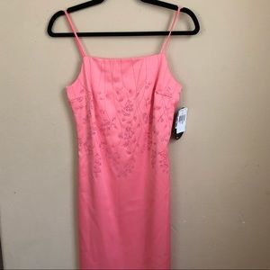 Pink/Coral silk formal dress
